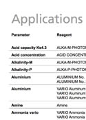 Application of Reagents